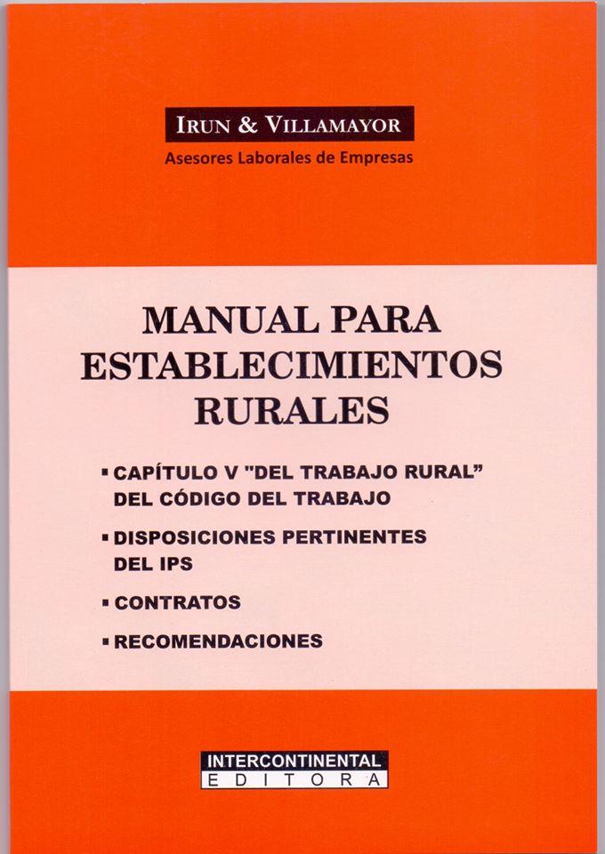 Manual para establecimientos rurales